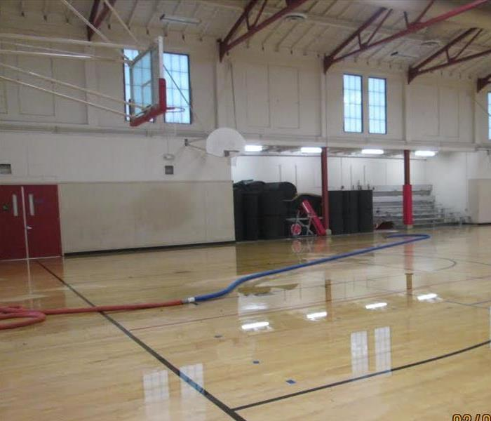 Rain Storm Damage in San Rafael School Gym